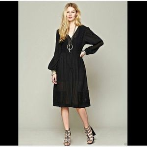 Free People Love You Maxi Top Duster Cardigan Lace